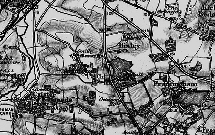Old map of Arminghall in 1898