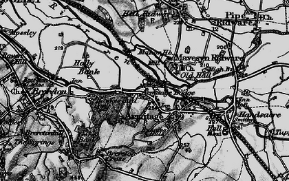 Old map of Armitage in 1898