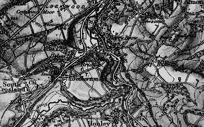 Old map of Armitage Bridge in 1896