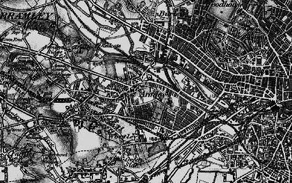 Old map of Armley in 1896