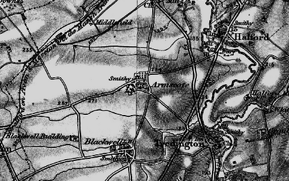 Old map of Armscote in 1898