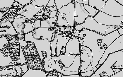 Old map of Armthorpe in 1895