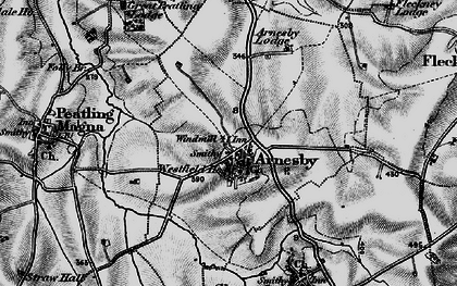 Old map of Arnesby in 1898
