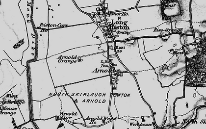 Old map of Arnold in 1897
