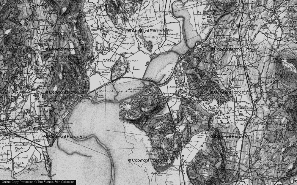 Old Map of Historic Map covering Ash Meadow in 1898