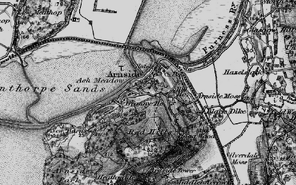 Old map of Arnside in 1898