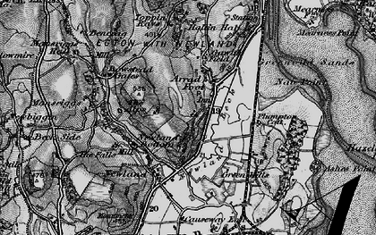 Old map of Arrad Foot in 1897