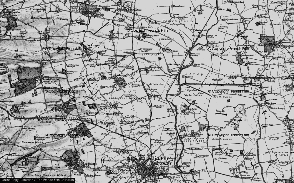 Old Map of Historic Map covering Leconfield Low Parks in 1898