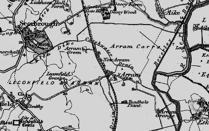 Old map of Arram in 1898