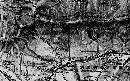 Old map of Arreton in 1895