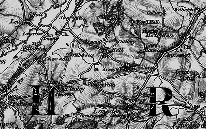 Old map of Arscott in 1899