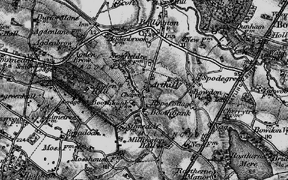 Old map of Arthill in 1896