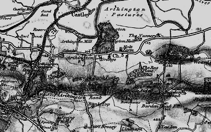 Old map of Bank Top in 1898