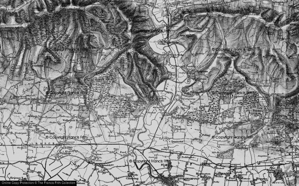 Old Map of Historic Map covering Arundel Park in 1895