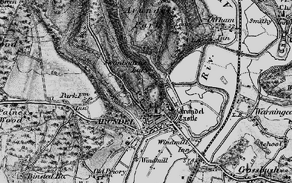 Old map of Arundel Park in 1895