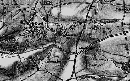 Old map of Ascott in 1896