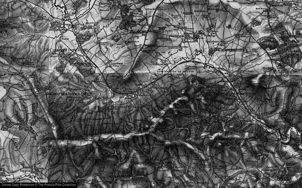 Old Map of Ascott d' Oyley, 1896 in 1896