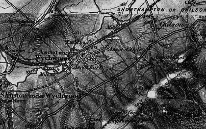 Old map of Ascott d' Oyley in 1896