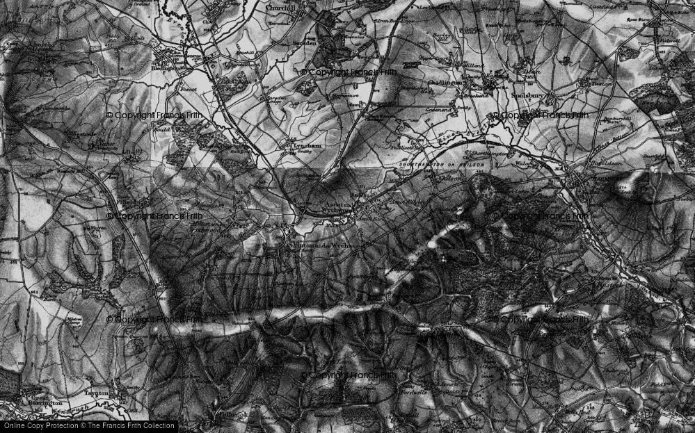 Old Map of Ascott Earl, 1896 in 1896