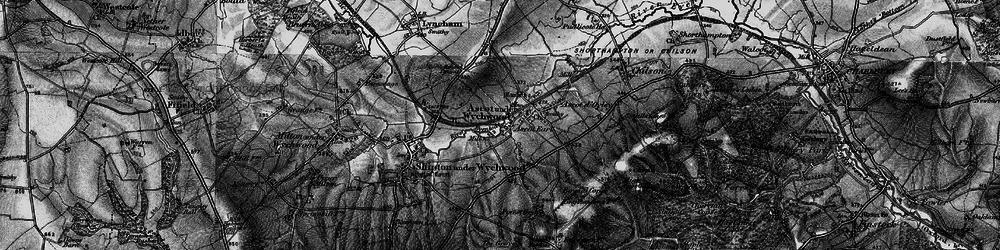 Old map of Ascott Earl in 1896