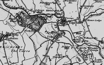 Old map of Asenby in 1898