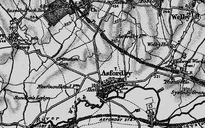Old map of Asfordby in 1899
