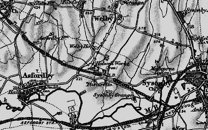 Old map of Asfordby Hill in 1899