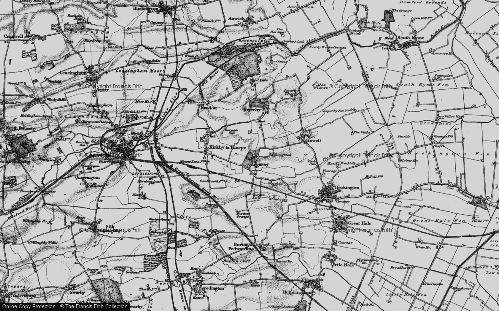 Old Map of Asgarby, 1898 in 1898