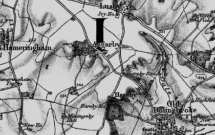 Old map of Asgarby in 1899