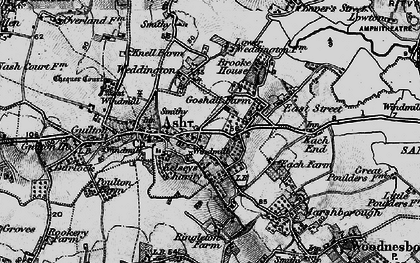 Old map of Ash in 1895