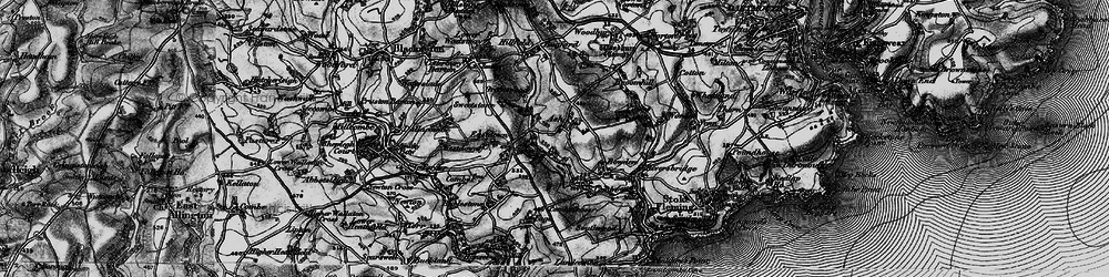 Old map of Ash in 1897