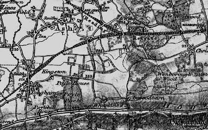 Old map of Ash Green in 1895