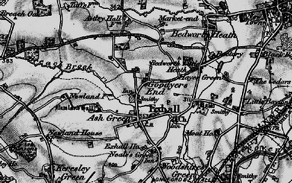 Old map of Ash Green in 1899
