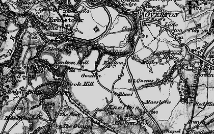 Old map of Ash Grove in 1897