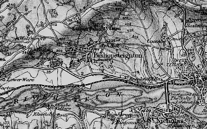 Old map of Ash Hill in 1898