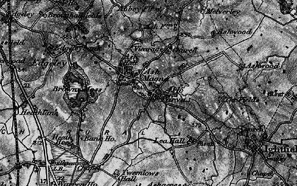 Old map of Ashfields in 1897