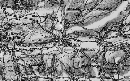 Old map of Ash Mill in 1898