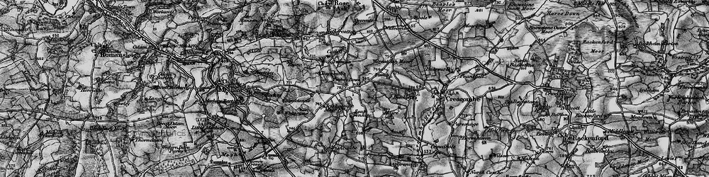 Old map of Ash Moor in 1898