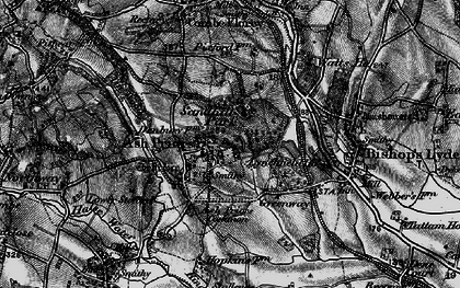 Old map of Ash Priors in 1898