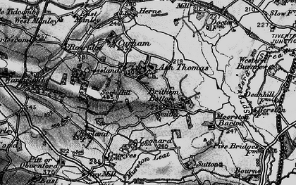 Old map of Ash Thomas in 1898