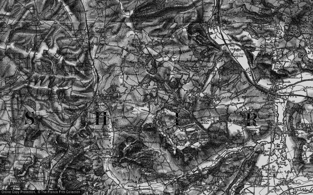 Old Map of Historic Map covering Wyld Court Rainforest in 1895