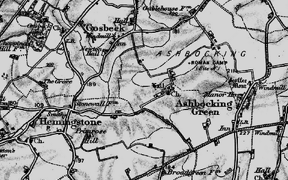 Old map of Ashbocking Hall in 1898