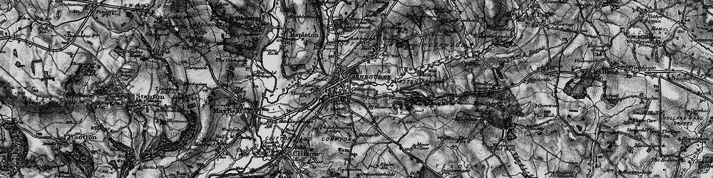 Old map of Ashbourne in 1897