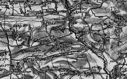 Old map of Ashbrittle in 1898