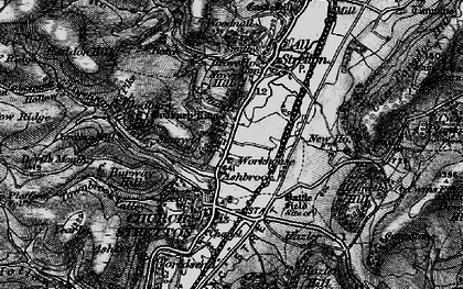 Old map of Ashbrook in 1899