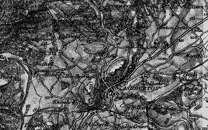Old map of Ashburton in 1898