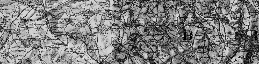 Old map of Ashbury in 1895