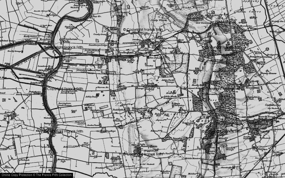 Old Map of Ashby, 1895 in 1895