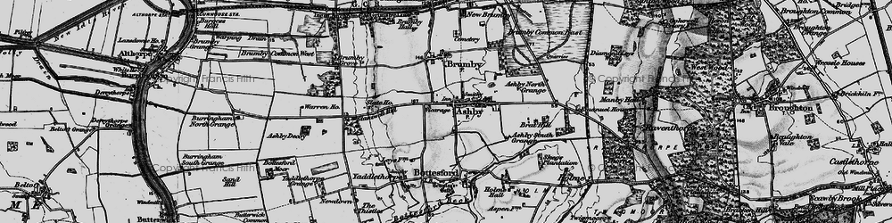 Old map of Ashby in 1895