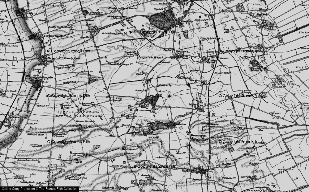 Old Map of Historic Map covering Ashby Lodge in 1899